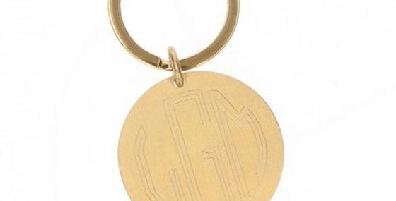 Gold Monogrammed Keychain