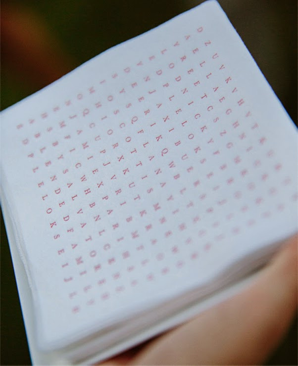 word search cocktail napkin