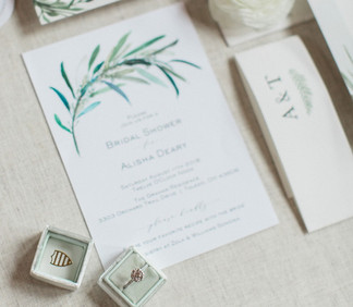 watercolor bridal shower invite.