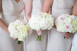 bridesmaid's bouquets with Hydrengea