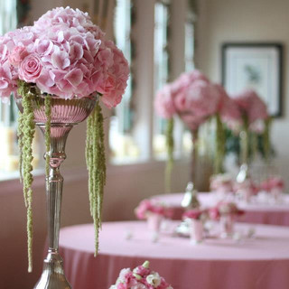 pink floral for table