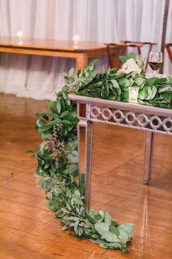 head table greens