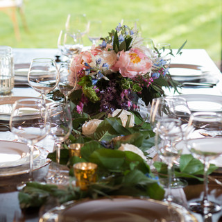 rustic floral center table design