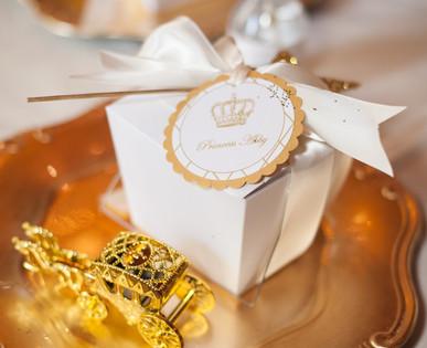 Princess party favor box.