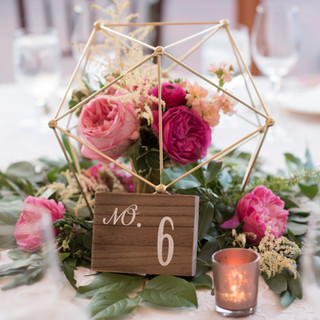 romantic floral setting