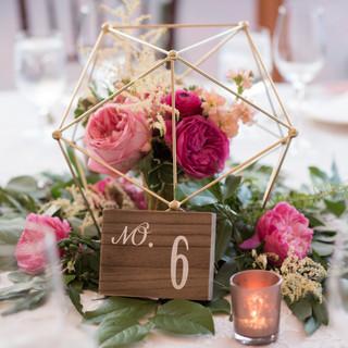 romantic floral setting