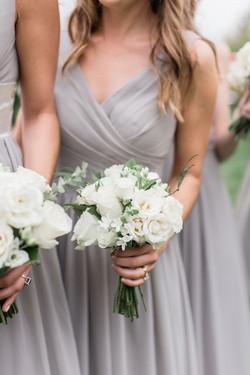 Neutral Bridesmaid flowers
