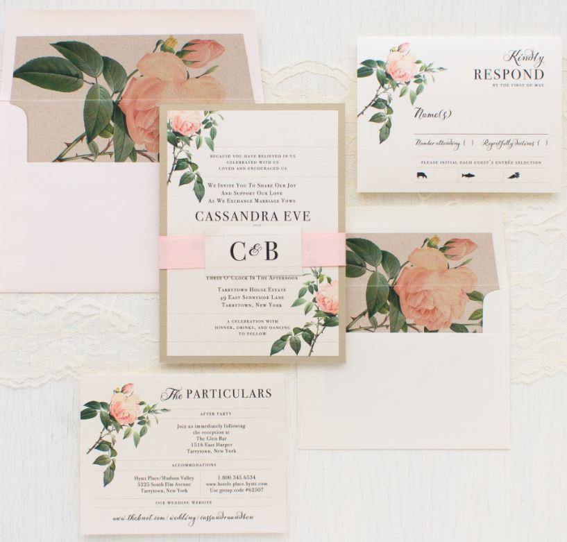 wedding invitations, wedding stationery design, envelope liners, lined envelopes