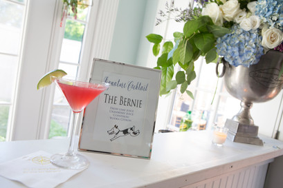 the bride's dog as a signature drink.