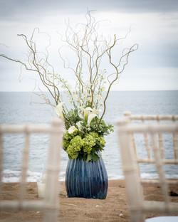 aisle decor beach wedding