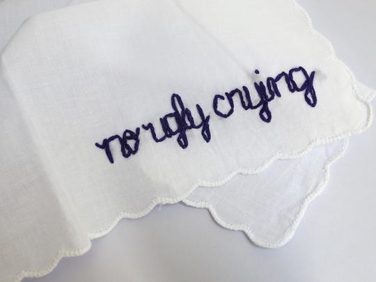 """""""no ugly crying"""" hankerchief"""
