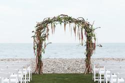 wedding arbor beach wedding