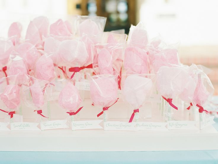 Cotton candy escort cards