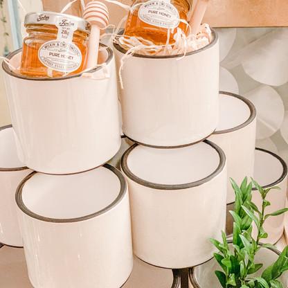 Bee's Knees white linen ceramic pots.jpg