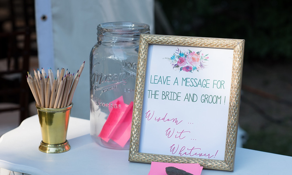 Leave a message for the bride and groom