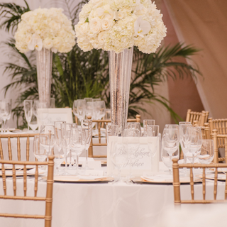 whiter floral design wedding