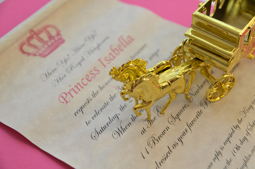 Princess party invitation.
