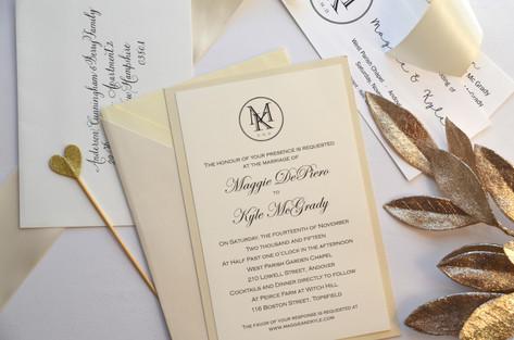 custom wedding monogram.