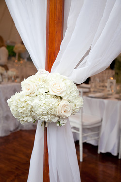 tented wedding fabric draping