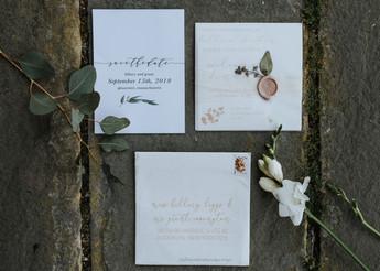 Gloucester wedding invitation suite.