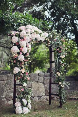wedding arbor for a garden wedding