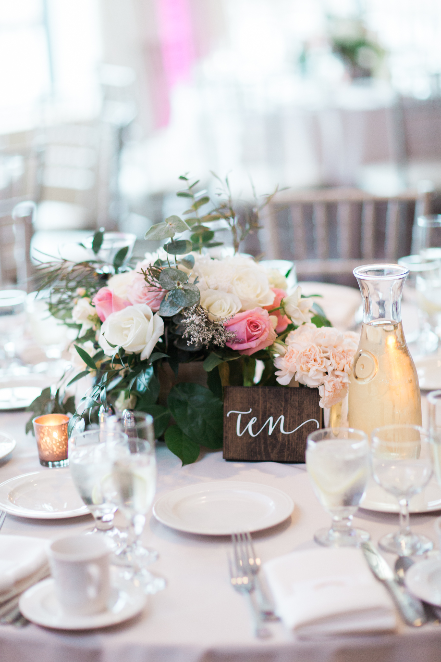 Rustic wedding centerpiece