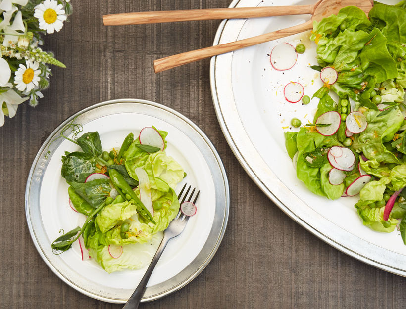Spring Pea and Herb Salad, Fresh, The Goop