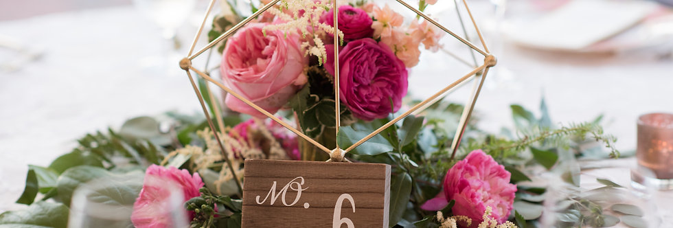 Wooden Table Numbers - RENTAL