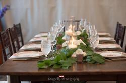 farm table wedding decor