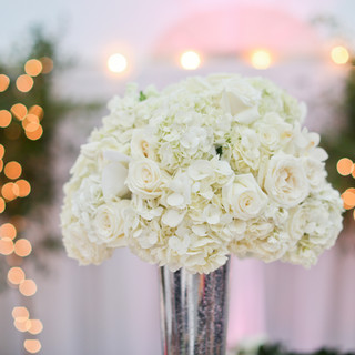white romanitc floral design