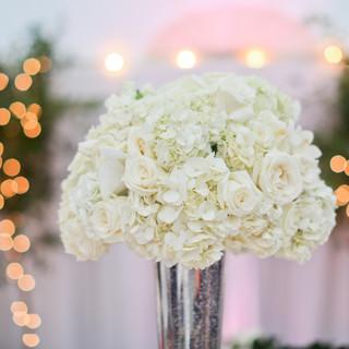 white romanitc floral design