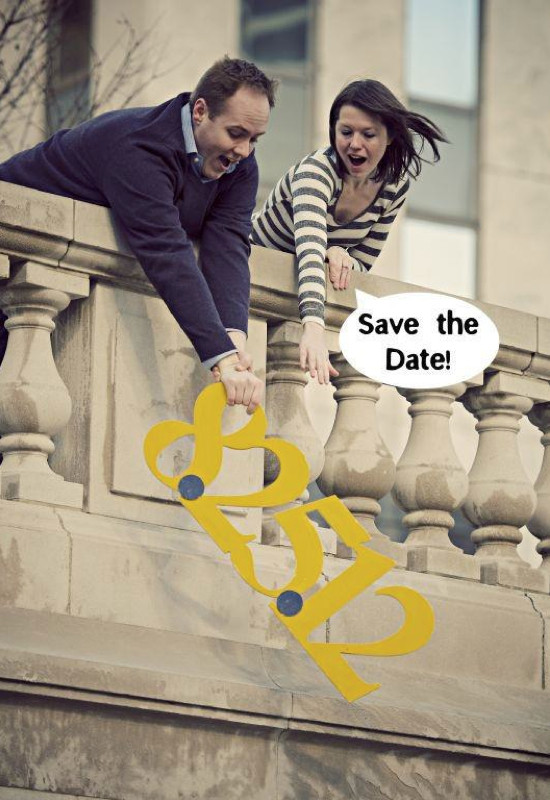 corny or witty save the date