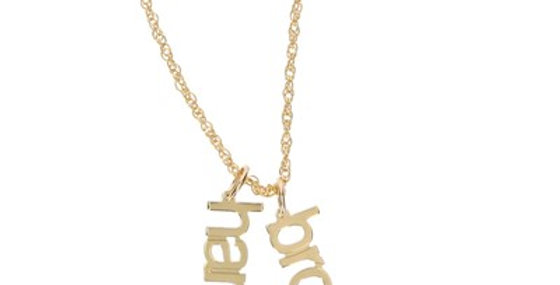 Gold Modern Name Necklace
