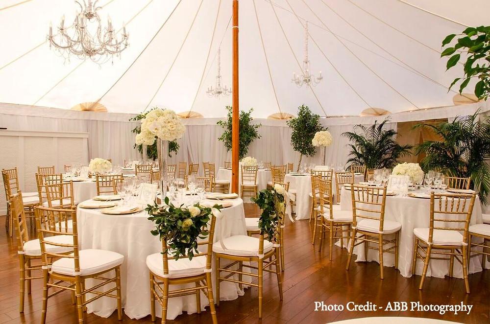 wedding tent, tented reception
