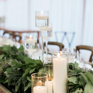 candle floral design