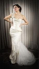 Vogue Wedding Dress Designer wedding dress in ivory taffeta by wedding dress designer Angelina Colarusso. Luxury Wedding dresses London, couture wedding dresses,