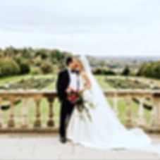 A beautiful #winterwedding at Cliveden House, glamorous bride Natasha wears a bespoke couture gown by Angelina Colarusso, with draped boned bodice and full dramatic skirt and train, elegant and sophisticated bride. #angelinacolarusso #elegantbride #glamorousbride #bespoke #couturebride #corsetedbride #corseted #timelessbride