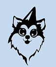 Dog with party hat icon