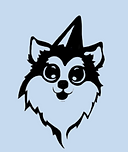 Dog wearing party hat icon