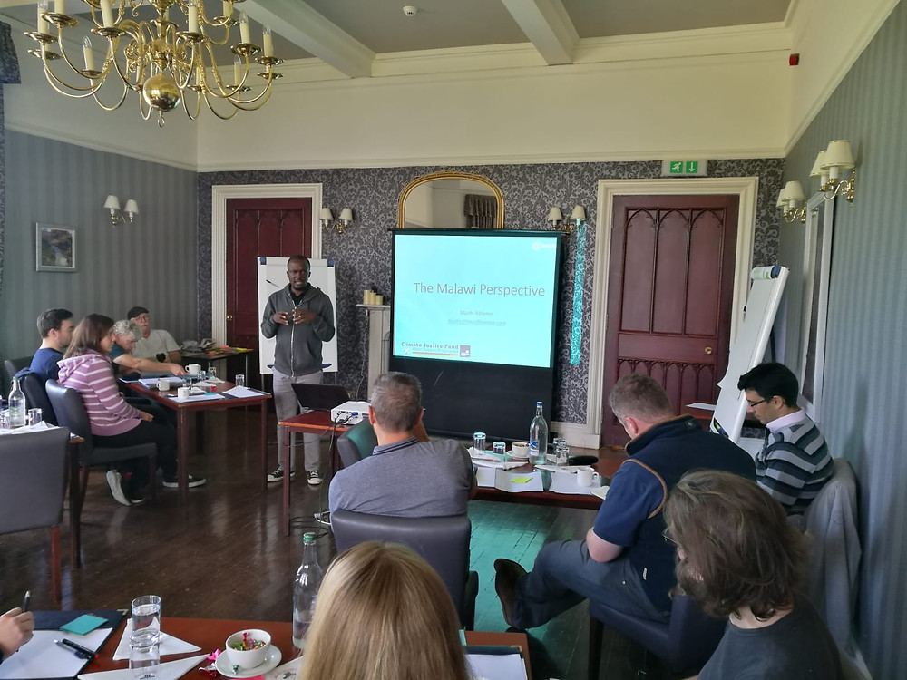 Muthi Nhlema (Baseflow's team leader) presenting the Malawian perspective in the away day in Scotland.