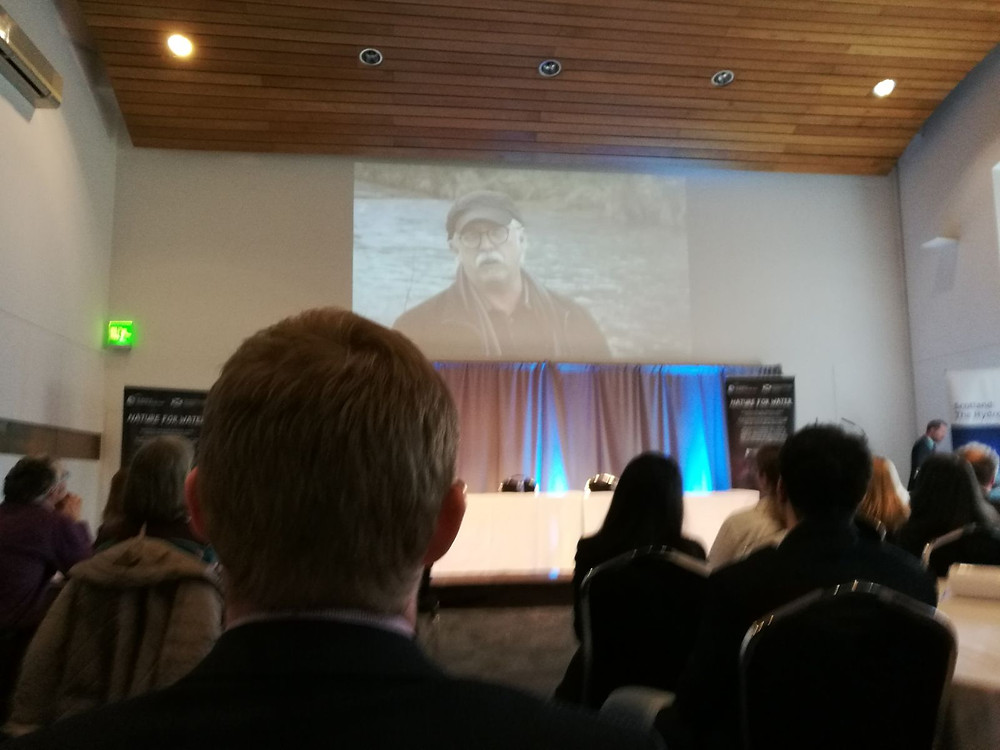 Fig. 2. CJF video shown in the World Water Day event in Edinburgh.