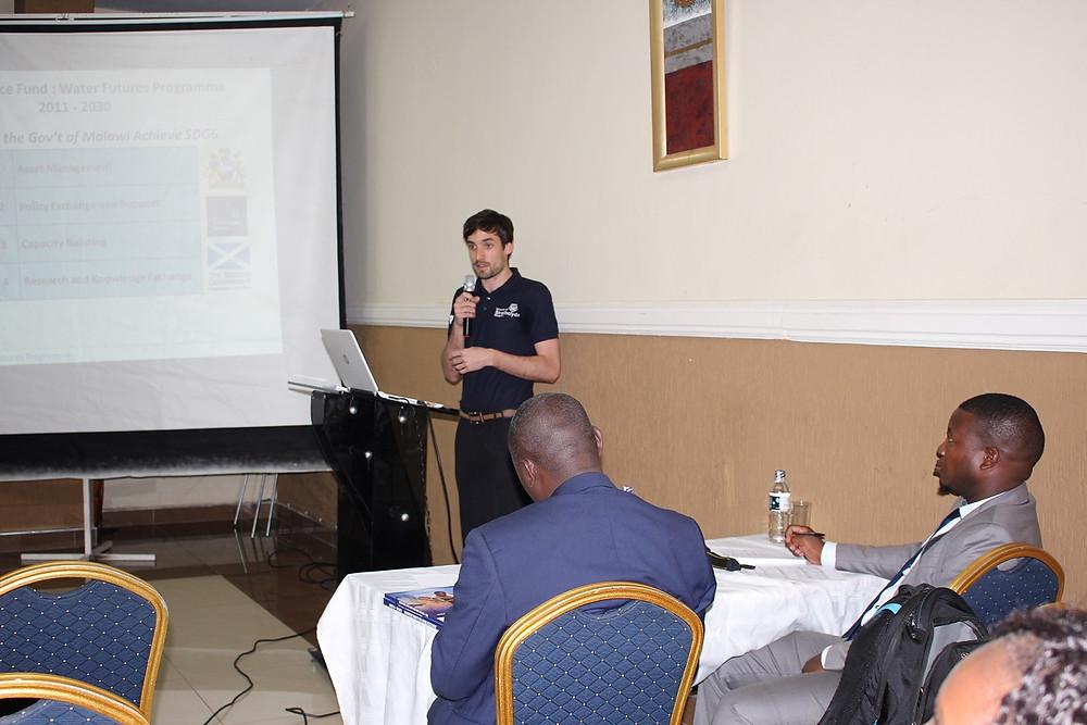 Nicholas Mannix during his presentation