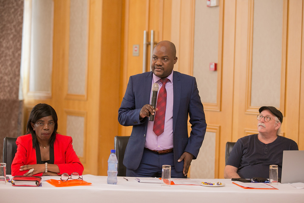 Prince Mleta and Emma Mbalamae (MoAIWD) with Prof. Kalin (CJF)
