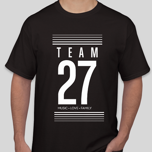 Black T-Shirt Team 27