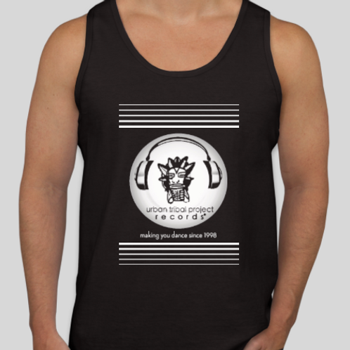 Black Tank Top with Bars Logo