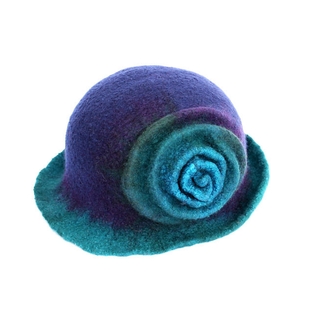 Rose Hat with Brim