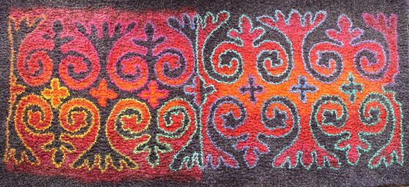 Rug with Kzrghiz Design by Flora Carlile