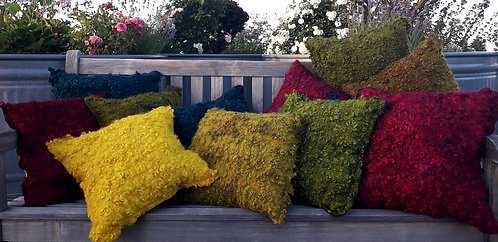 Curly Felted Pillows