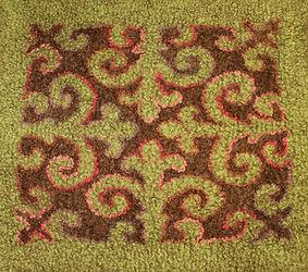 Rug with Kyrghiz design 2 by Flora Carli