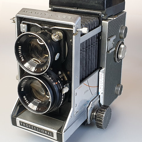 MAMIYA C33 6x6 TLR with 80mm f:2.8 Sekor lens.